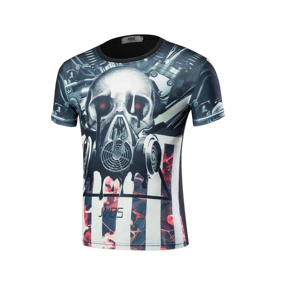 High quality 2016 Newest Fashion Harajuku Men/Women T-shirt 3d Print The skull ip Hop Brand T Shirt Summer Tops Tees
