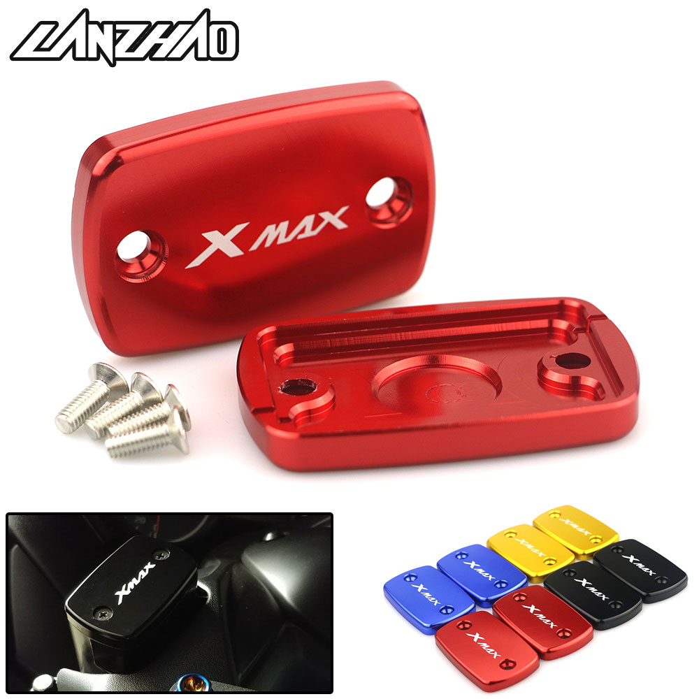 CNC Aluminum Motorcycle Front Brake Master Cylinder Tank Cup Oil Cup Cover Modified Accessories for <font><b>Yamaha</b></font> <font><b>XMAX</b></font> 250 300 <font><b>400</b></font> image
