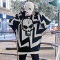 Drop Verschiffen 2019 Neue Farbe Patchwork Stricken Straße Stilvolle Herren Hip Hop Casual Pullover Pullover Männlichen Lose Volle Hülse Pullover