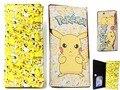 Pokemon Pikachu Amarillo Pu Niños Carpeta Larga Del Monedero Fold Caso de la Bolsa de Regalos