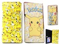 Pokemon Pikachu Yellow PU Leather  Children Wallet Long Purse Fold Case Bag Gifts