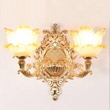 وحدة إضاءة led جداريّة ضوء الذهب مصابيح الزجاج الجدار مصباح Vintage تركيبات إضاءة الحمام شمعدانات جدارية نوم مصابيح السرير الإضاءة