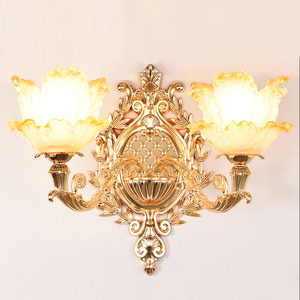 Image 1 - led Wall Light Gold Lamps Glass Wall Lamp Vintage Bathroom Light Fixtures Wall Sconces Bedroom Lamps Bedside Lighting