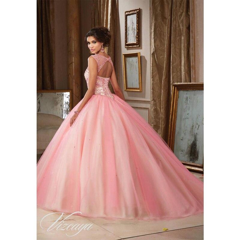 Romántico rosa claro vestidos de cenicienta princesa vestido de ...