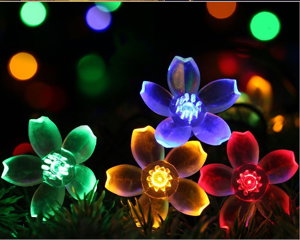 Solar String Lights 3050 LED Garland Outdoor Flower LED String Fairy Christmas Tree Light Party Wedding New Year Decoration (12)