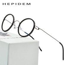 83f29cf998 Montura de gafas ópticas de titanio para hombre gafas de prescripción  ultraligero para mujer gafas redondas coreanas de diseñado.