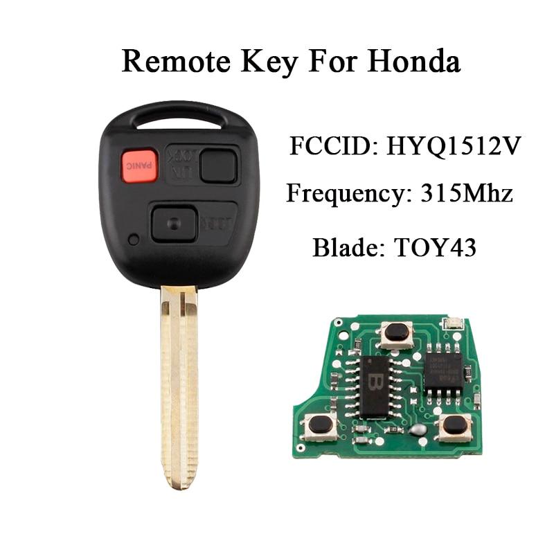 Auto Afstandsbediening Sleutel Voor Toyota Land Cruiser 2003 2004 2005 2006 2007 315 Mhz Sleutel Voor Toyota Hyq1512v Transponder 4c Chip Toy43 Blade