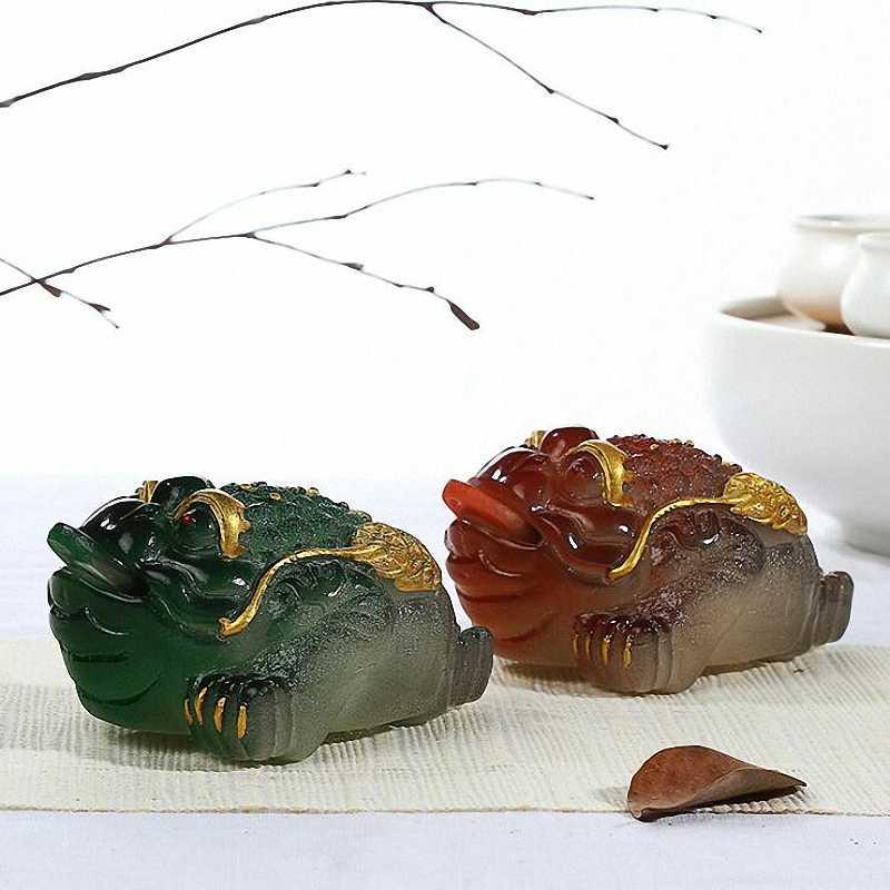 PINNY Cor Mudou Sapo Chá Animais Resina Pequeno Pet Chá chinês Sabor Cerimônia do Chá Decoração Jogo Jogo de Chá de Alta Qulity água