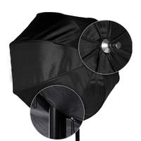 Nuovo 80 cm/31.5in Octagon Softbox Ombrello Riflettore Diffusore con Staffa In Fibra Di Carbonio per Speedlite Flash Light Sliver Nero