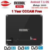KI PRO 2 GB/16 GB DVB-S2 DVB-T2 DVB-C Android 7.1 TV Box Amlogic S905D Dual WIFI HD Por Satélite Receptor + 1 Año CCCAM Europa servidor