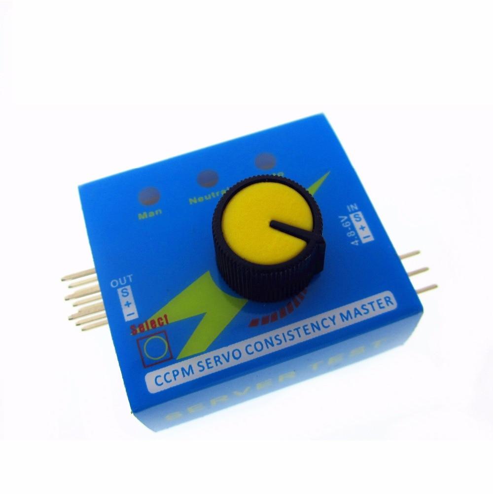 HAILANGNIAO Servo Tester Gear Test CCPM Consistency Master Checker 3CH 4.8-6V With Indicator Light