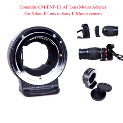 Commlite CM-ENF-E1 AF Lens Mount Adapter For Nikon F Lens to Sony E-Mount camera for SONY A7 II A7R II A6300