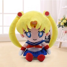 Sailor Moon Tsukino Usagi Kids Plush Toy 21cm Cartoon Anime Soft Stuffed Peluche Doll Children Toy Gift free shipping 6 interchangeable face sailor moon anime tsukino usagi pvc action figure collection model toy safg005