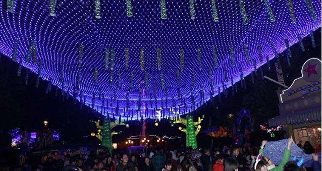 220 V Çok Renkli 200 LEDs 2 M * 3 cm LED Net Dize Noel Cristmas - Şenlikli Aydınlatma - Fotoğraf 6