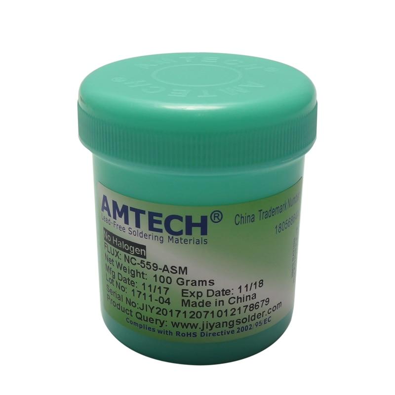 100g AMTECH NC-559-ASM RMA-223-UV Lead-Free Solder Flux Paste For BGA Reballing Soldering repair free shipping rma 223 uv 100g bga soldering solder flux paste for pcb rework reballing welding repair