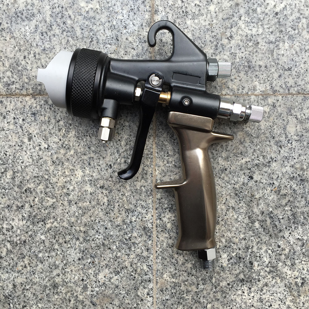 SAT1205 air spray paint chrome chemical paint silver mirror car wheel painting gun high pressure air brush gun double nozzle стоимость