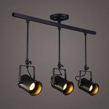 Новый kimyu Винтаж Лофт потолочный светильник 1/2/3/4 глав Творческий Лофт трек ткани магазин кофе бар свет одежда ТВ бар фон Лам