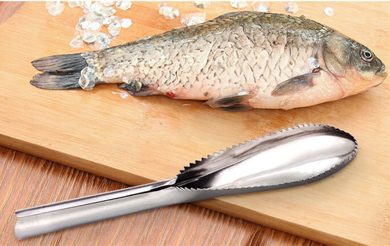 Kitchen gadget cleaning fish skin stainless steel for Skin it fish skinner
