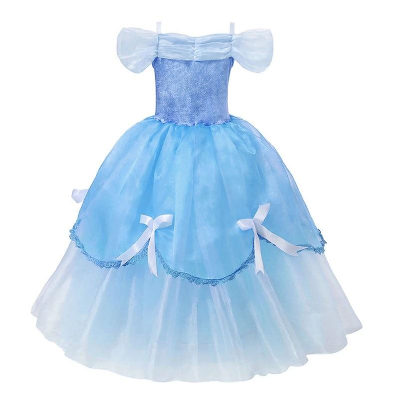 f6d2c9d7a Cenicienta vestido de las niñas de traje chico s Vestidos para niñas Elsa  Vestidos chico nieve