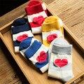 1 Par/lote Novo Listrado Padrão Lindo Meias Para Mulheres Meninas Meias Bonito Moda Vermelho Azul Amarelo Cinza Sox Calcetines Mujer