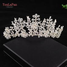 YouLaPanHP215-S sliver wedding headband rhinestone handmade bridal hair vine crystal accessories elegant