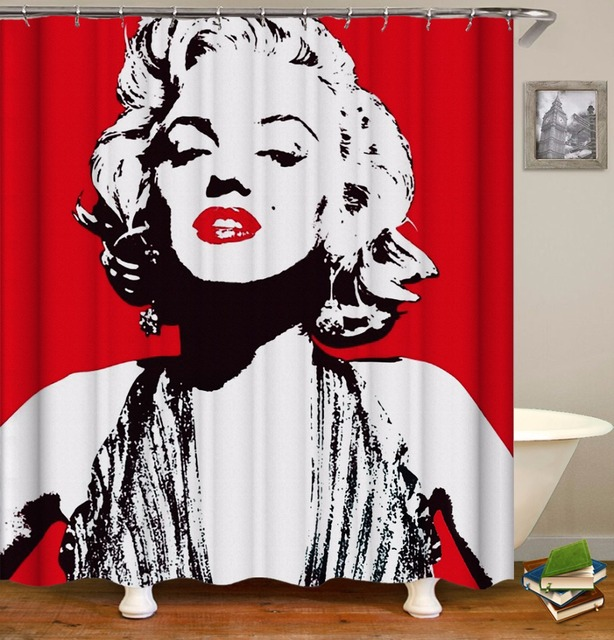 Dropship Spille g 3D Tende da Doccia Marilyn Monroe Spille Up Girl Tende per Ten