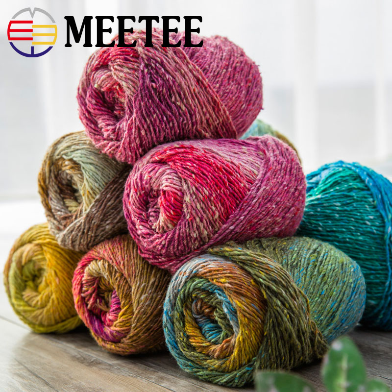 One Roll Hand Knitting Dye Yarn DIY Soft Baby Crochet