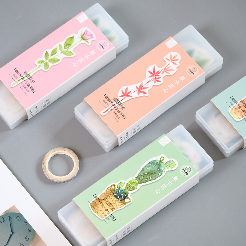 30 Pcs/Set Lovely Cactus Flower Plant Paper Bookmark Book Holder Message Card Kawaii Gift Stationery