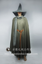 Free shipping Lord Of The Rings Gandalf Wizard Cosplay Halloween Costume Custom with hat