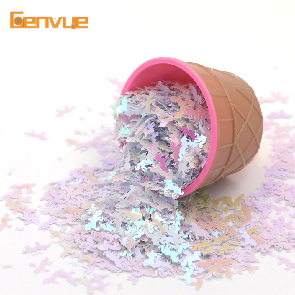10g Mini Unicorn Sequins Addition Filler For Slime Charms Toys Accessories Supplies Lizun Additives For Slices Decor Toys Gifts