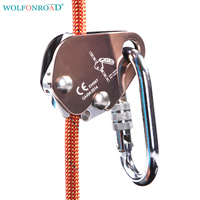 WOLFONROAD 22KN Rock Climbing Belay Device With Assisted Belay Rope Gripper Downhill Automatic Lock Climbing Accessory L XDQJ 45
