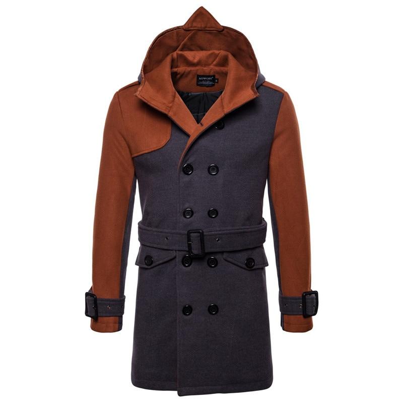wool coat men camel-grey