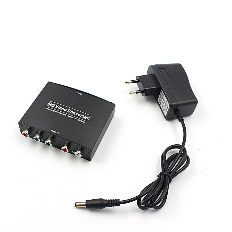 1080P HD Clear HDMI To RGB Component YPbPr video and R/L audio Adapter Converter 7600 component video to vga video converter change ypbpr to composite video