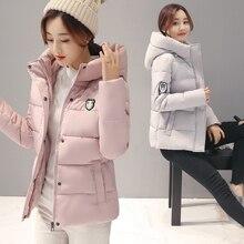 Дешевые оптовая 2017 новый Осень Горячие продажа мода повседневная теплая Зима женщины куртки женские милые bisic пальто doudoune femme