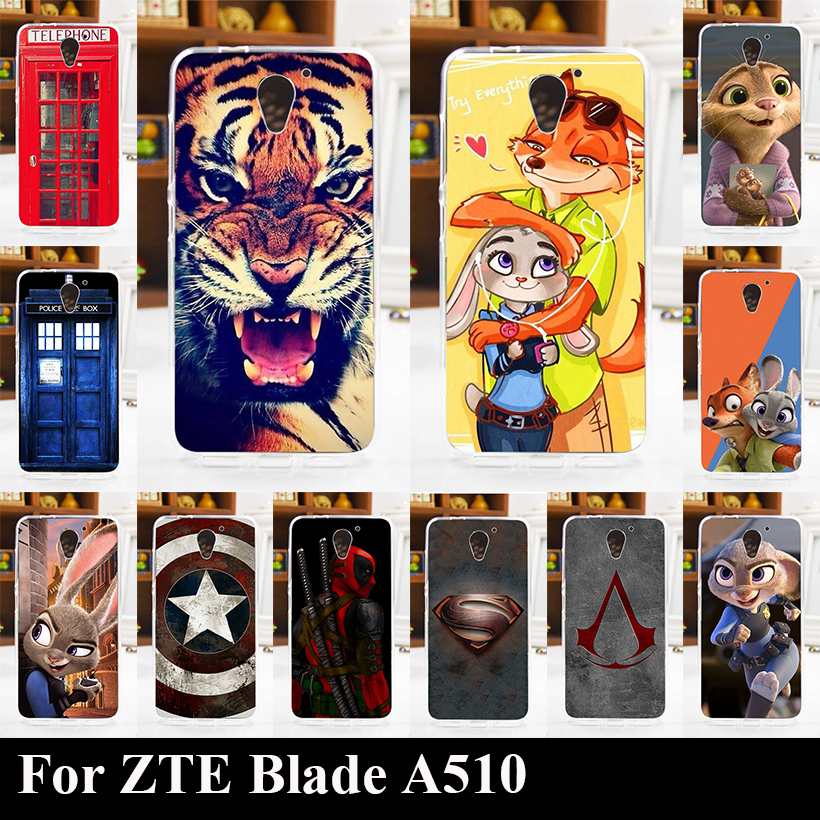 Soft Silicone tpu Case For ZTE Blade A510 Mobile Phone Cover font b Bag b font