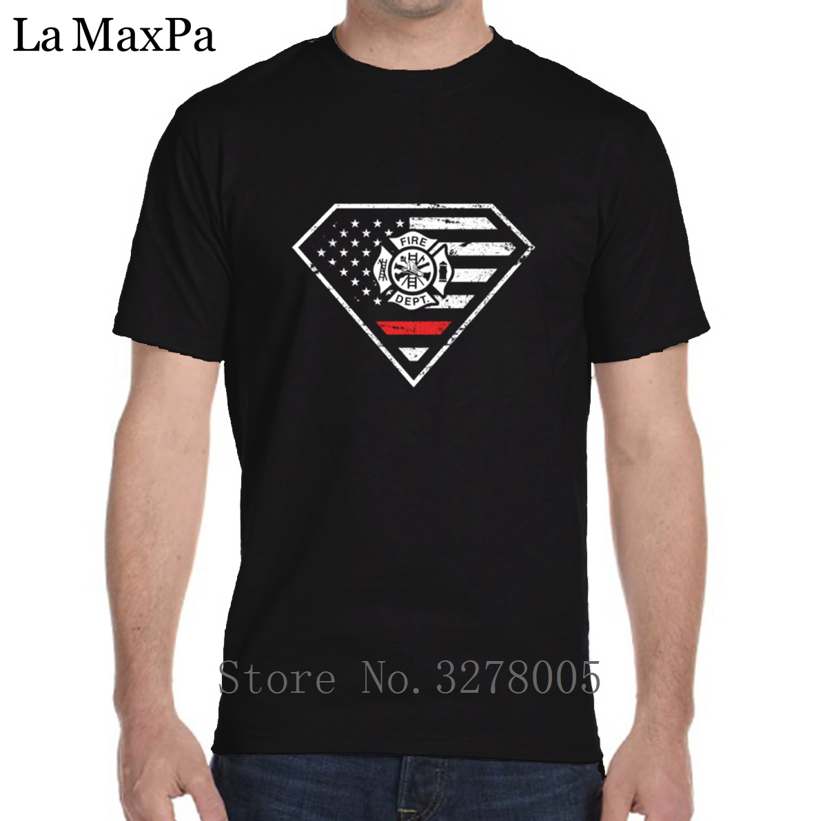 Personalized Tshirt Man Casual American Fire Department T Shirt For