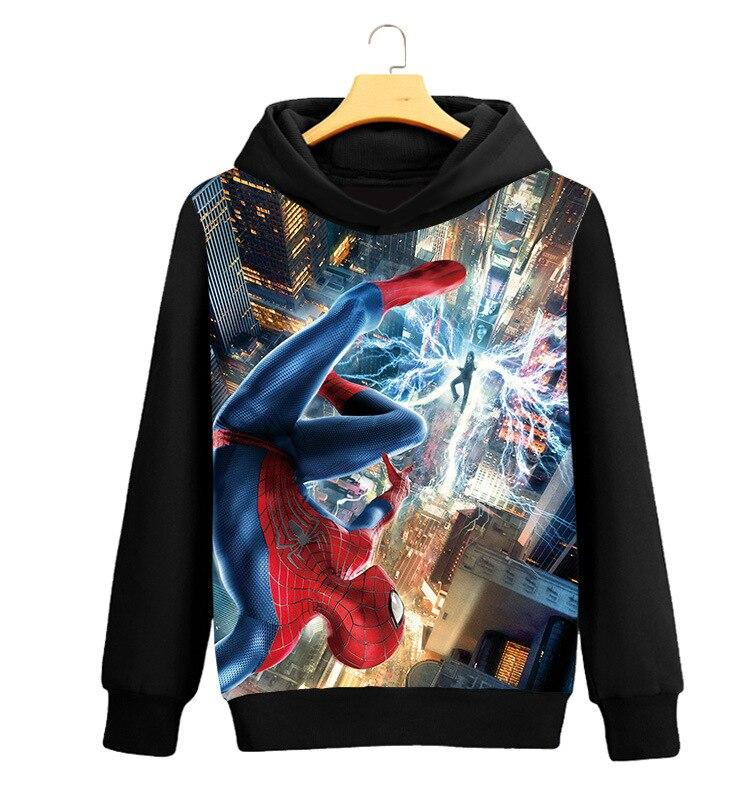 Spider-Man: Homecoming Spiderman Cosplay Costumes 3D Printing Hoodie Sweatshirts Coat