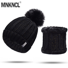 8a748e1374c MNKNCL 2018 New Pom Poms Winter Hat for Women Fashion Warm Knitted Hat  Beanies Cap Brand