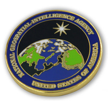 custom National Geospatial Intelligence Agency coins hot sales cheap Hard Enamel Challenge Coin
