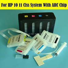 4 Color Empty Ciss System For HP10 11 Ink Cartridge For HP Designjet 70 100 110 100Plus 110Plus 10 20 50 Printer For HP 10 11