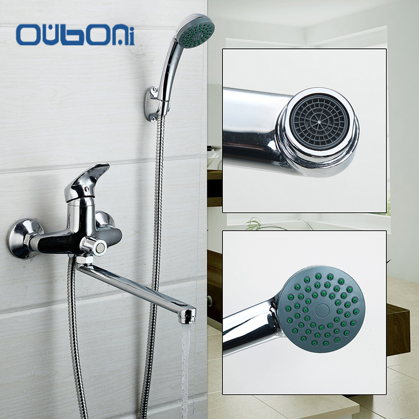 Inspirational RU New Concise Style Bathroom Shower Faucet Bath Faucet Mixer Tap With Hand Shower Head Shower Faucet Set Wall Mounted Idea - Awesome bathroom shower heads and faucets Simple