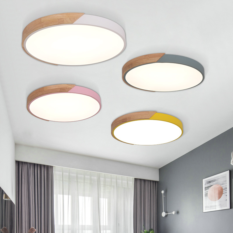 Nordic Simple App Dimmable Oak Led Ceiling Lights Living Room Round Alloy Led Ceiling Lamp Bedroom Led Ceiling Light FixturesNordic Simple App Dimmable Oak Led Ceiling Lights Living Room Round Alloy Led Ceiling Lamp Bedroom Led Ceiling Light Fixtures
