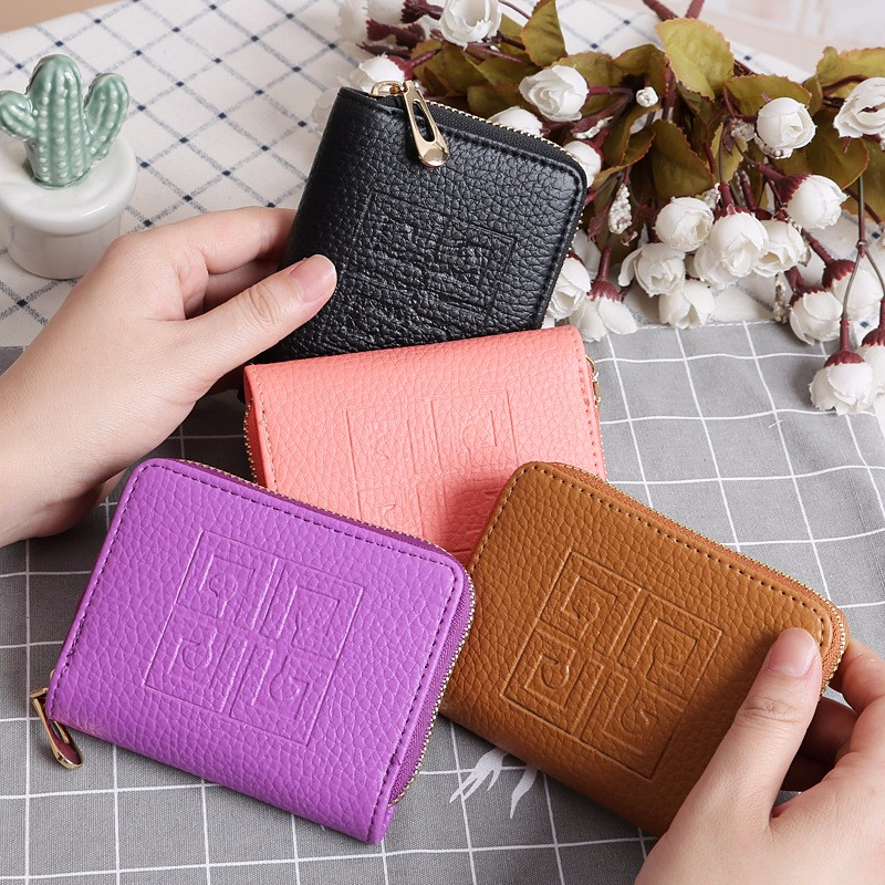 Arsmundi Women Fashion Small Wallet Zipper Multi-function Leather Mini Wallet For Ladies Coin Purse Card Holder Portefeuille