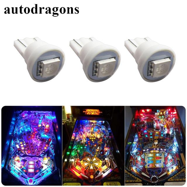Autodragons 100pcs T10 194 W5w Led 6 3v Pinball Lights 555 Anti Flickering Super Brightness For