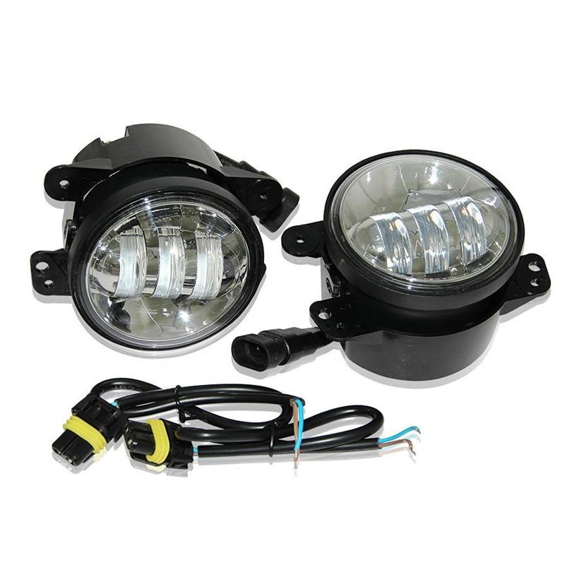 4 дюйма 30W светодиодные противотуманные фары проектор Лен для Wrangler JK виллиса 97-16 ТДЖ ЖЖ ATV светодиодные противотуманные фары Лампа вождения offroad лампы