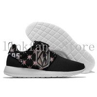 Vegas Golden Knights 2017 New Trend Ladies Walking Shoes Brand Black Girls Running Shoes Summer/Autumn Athletic Lace Up Sports