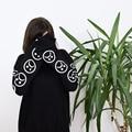 Sad Faces Emoticon Sleeves Printed Keyboard Sweatshirt  Black White Tumblr Hoodies Winter Tracksuit Clothing