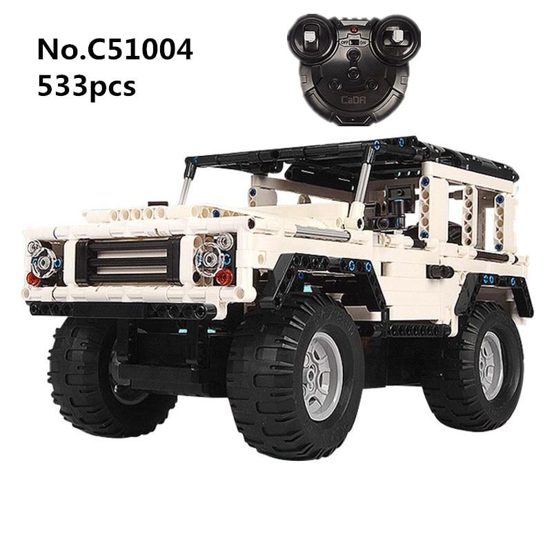 533 pièces Blocs Technic Série RC Télécommande SUV Voiture Bloc De Construction Briques Jeep Voitures Jouets Pour Enfants Cadeaux C51004