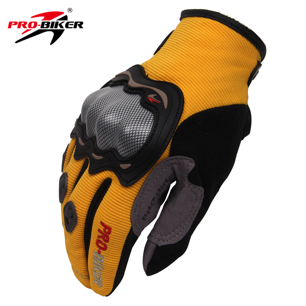 Motorcycle gloves thinsulate - Pro Biker Breathable Motorcycle Full Finger Protective Gear Racing Gloves Knight Riding Gloves With Handmade