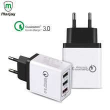 18W 3 Ports USB Charger Quick Charge QC 3.0 2.0 Fast Charger EU US Plug usb Adapter For Samsung Galaxy S9 Mobile Phone Charger(China)